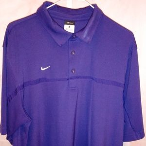 Nike Purple Comfort Athletic Polo Shirt (L)
